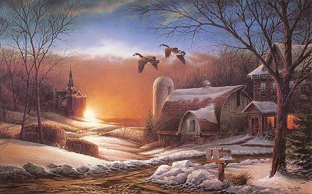 Les paysages enneigés de l'artiste Terry Redlin